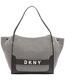 DKNY Ebony Mesh Logo Tote, Created for Macy's