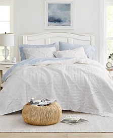 Laura Ashley Maisy White Quilt Set, Full/Queen