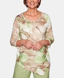 Santa Fe Floral-Print Tunic Top