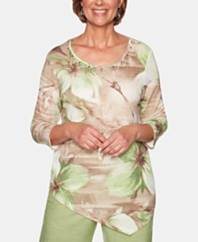 Alfred Dunner Santa Fe Floral-Print Tunic Top