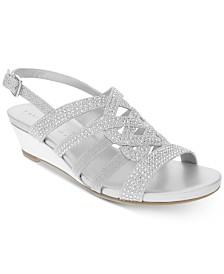 Karen Scott Dasha Wedge Sandals, Created for Macy's