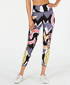 Calvin Klein Performance Pineapple-Print High-Waist Leggings