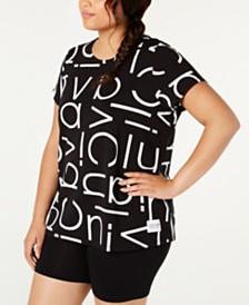 Calvin Klein Performance Plus Size Logo-Print T-Shirt
