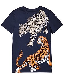 Epic Threads Big Boys Dueling Tiger T-Shirt, Created for Macy's