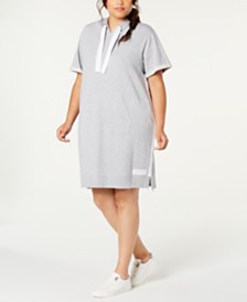 Calvin Klein Performance Plus Size Hoodie Dress