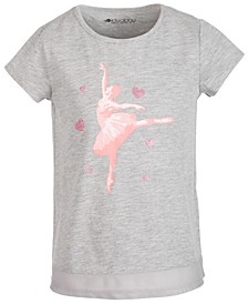 Little Girls Mesh-Hem T-Shirt, Created for Macy's