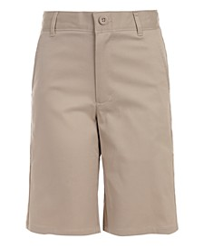 Little Boys Hunter Flat-Front Stretch Twill Shorts