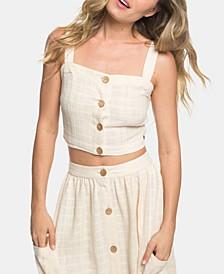 Juniors' Cotton Crop Top