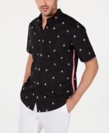 Club Room Men's Stretch Skull-Print Shirt, Created for Macy's
