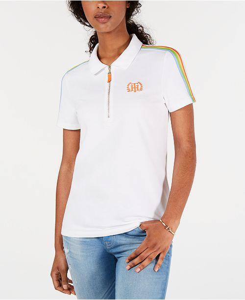herren speziell für Schuh Bestbewerteter Rabatt Rainbow-Stripe Polo Top, Created for Macy's