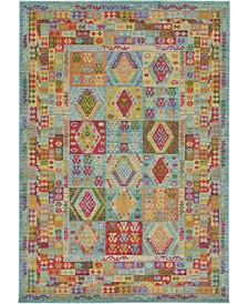 Bridgeport Home Arcata Arc9 Light Blue 7' x 10' Area Rug