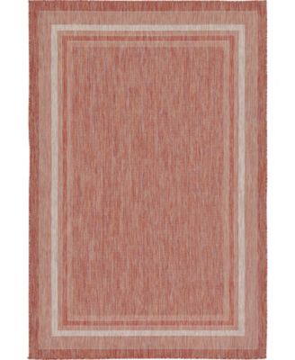 Pashio Pas5 Rust Red 6' x 9' Area Rug