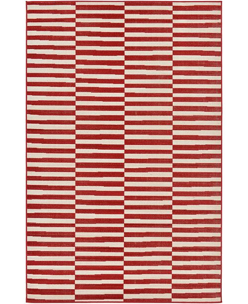 Bridgeport Home Axbridge Axb2 Red 5' x 8' Area Rug