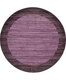 Lyon Lyo4 Violet 8' x 8' Round Area Rug