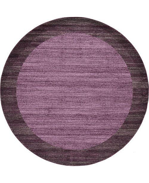 Bridgeport Home Lyon Lyo4 Violet 8' x 8' Round Area Rug