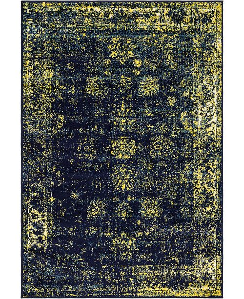 Bridgeport Home Basha Bas1 Navy Blue 4' x 6' Area Rug