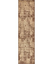 "Jasia Jas07 Brown 2' 6"" x 10' Runner Area Rug"