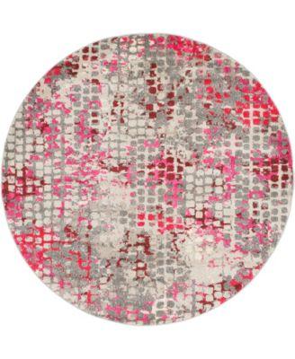 Crisanta Crs4 Pink 6' x 6' Round Area Rug