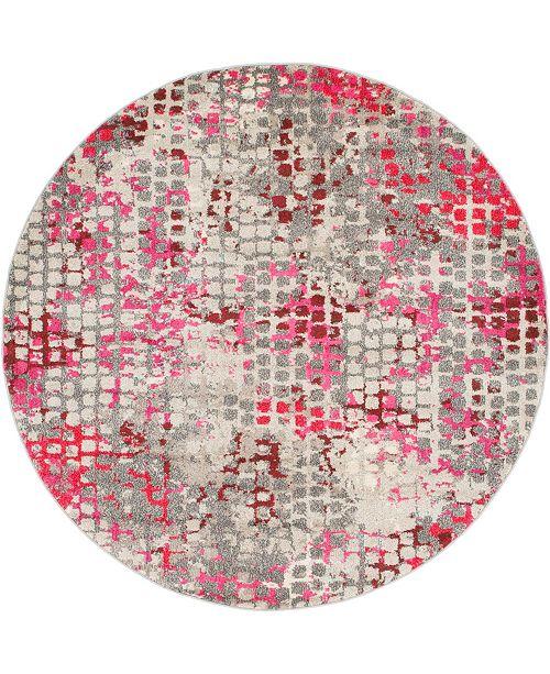Bridgeport Home Crisanta Crs4 Pink 6' x 6' Round Area Rug