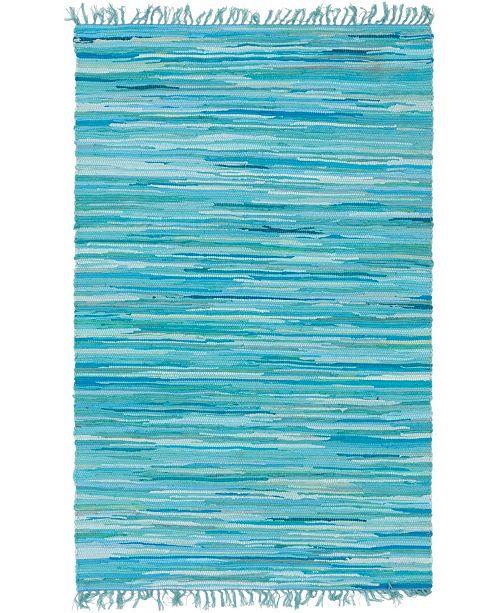 Bridgeport Home Jari Striped Jar1 Turquoise 4' x 6' Area Rug