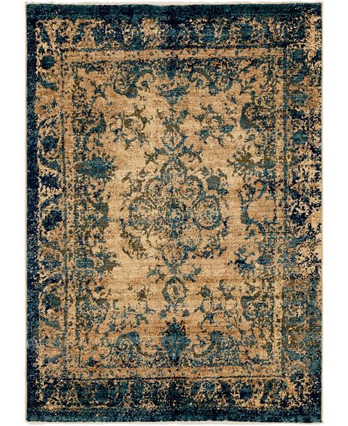 Bridgeport Home Thule Thu3 Blue 4' x 6' Area Rug