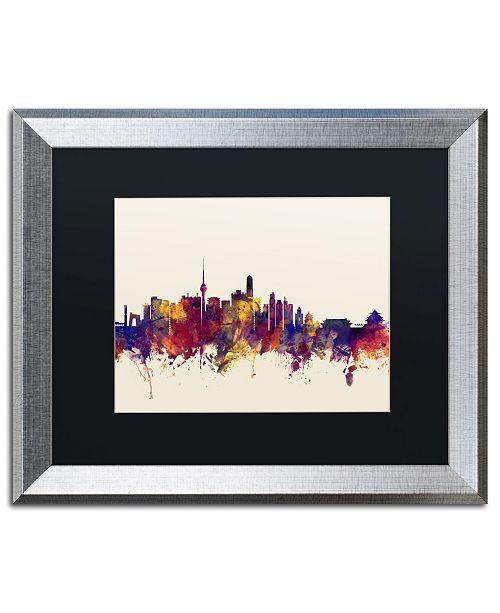 """Trademark Global Michael Tompsett 'Beijing China Skyline' Matted Framed Art - 16"""" x 20"""""""