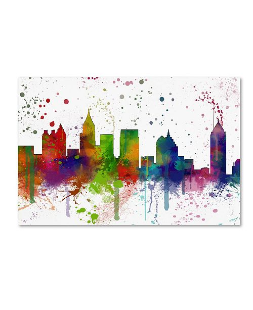 "Trademark Global Marlene Watson 'Atlanta Georgia Skyline Mclr-1' Canvas Art - 16"" x 24"""