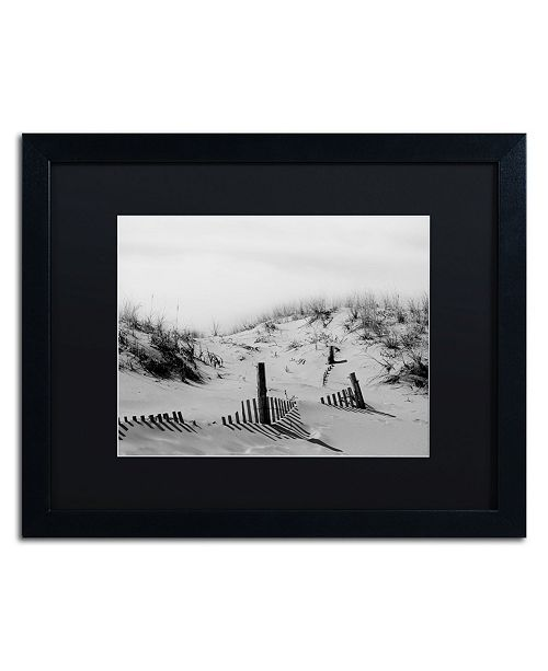 "Trademark Global PIPA Fine Art 'Buried Fences' Matted Framed Art - 16"" x 20"""
