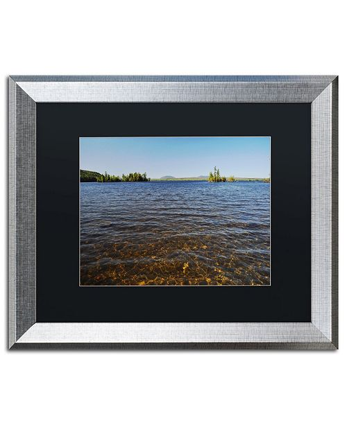 """Trademark Global Nicole Dietz 'View from the Shore' Matted Framed Art - 16"""" x 20"""""""