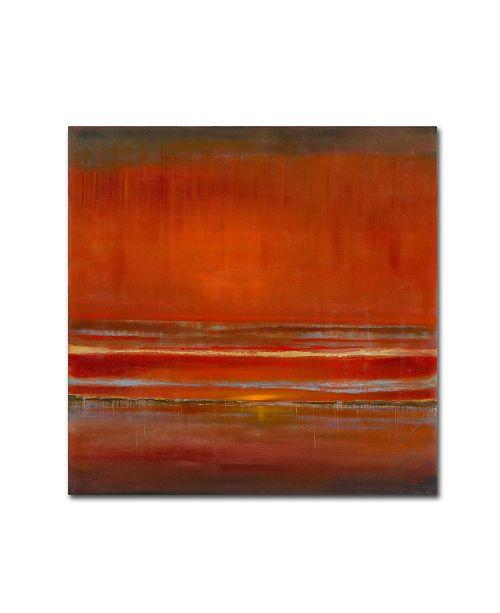 "Trademark Global Rio 'Red Horizon' Canvas Art - 18"" x 18"""