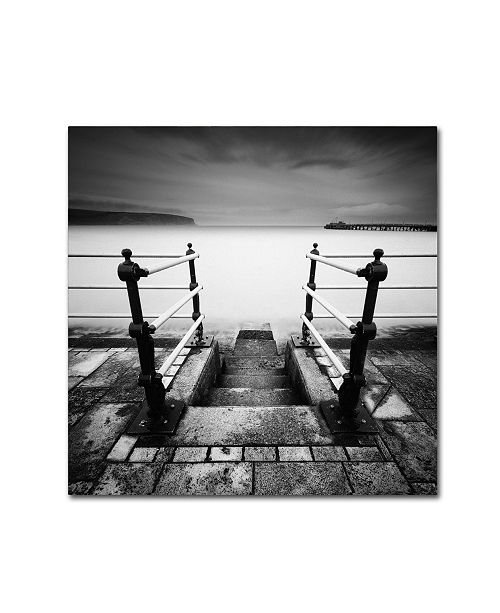 "Trademark Global Rob Cherry 'Swanage Seafront' Canvas Art - 18"" x 18"""