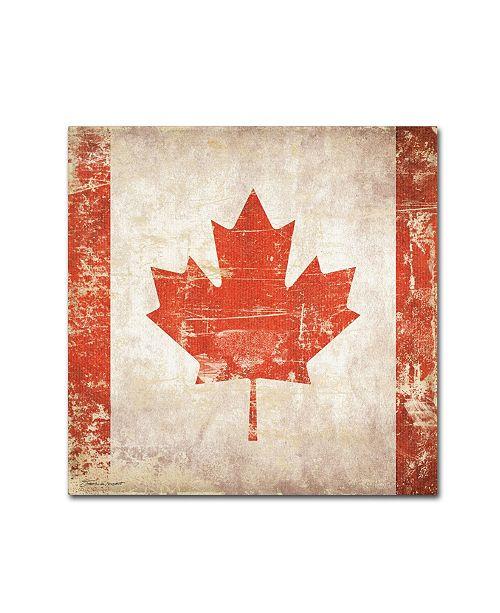 """Trademark Global Stephanie Marrott 'Canada Flag' Canvas Art - 18"""" x 18"""""""