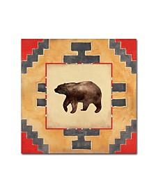 """Stephanie Marrott 'Bear Blanket' Canvas Art - 18"""" x 18"""""""