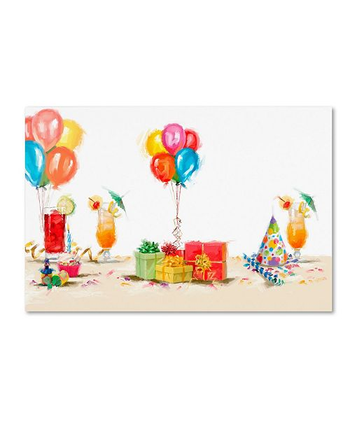 "Trademark Global The Macneil Studio 'Party Pops' Canvas Art - 16"" x 24"""