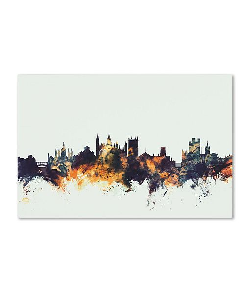 "Trademark Global Michael Tompsett 'Cambridge England Skyline' Canvas Art - 16"" x 24"""