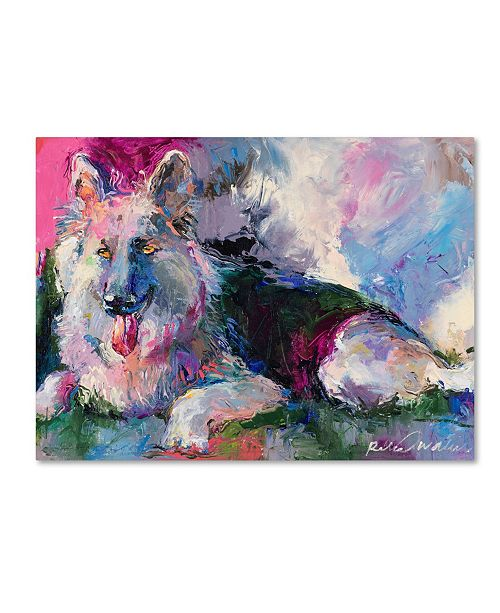 "Trademark Global Richard Wallich 'German Shepherd' Canvas Art - 18"" x 24"""