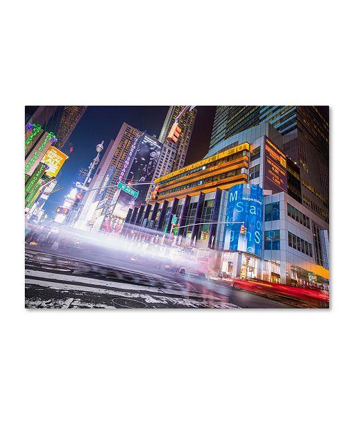 """Trademark Global Moises Levy 'City' Canvas Art - 16"""" x 24"""""""