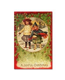 "Vintage Apple Collection 'Joyful Christmas' Canvas Art - 16"" x 24"""