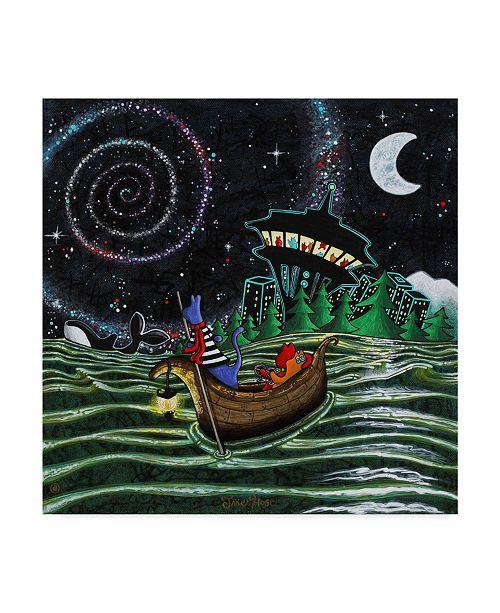 "Trademark Global Jake Hose 'Starry Night' Canvas Art - 18"" x 18"""