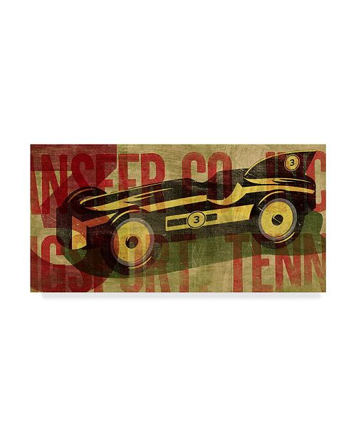 "Trademark Global John W. Golden 'Retro Racecar' Canvas Art - 16"" x 32"""