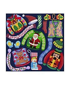 "Kimura Designs 'Christmas Ugly Sweaters' Canvas Art - 18"" x 18"""