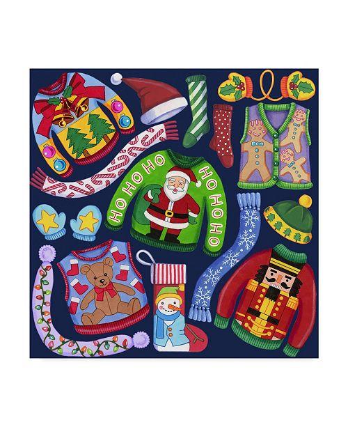 "Trademark Global Kimura Designs 'Christmas Ugly Sweaters' Canvas Art - 18"" x 18"""
