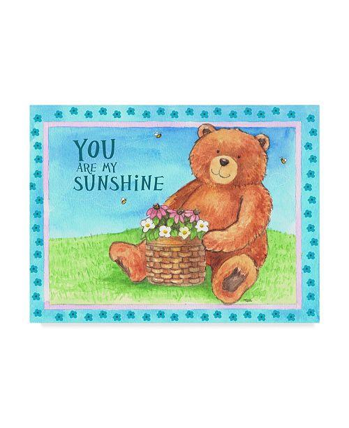 "Trademark Global Melinda Hipsher 'Bear Sunshine' Canvas Art - 18"" x 24"""