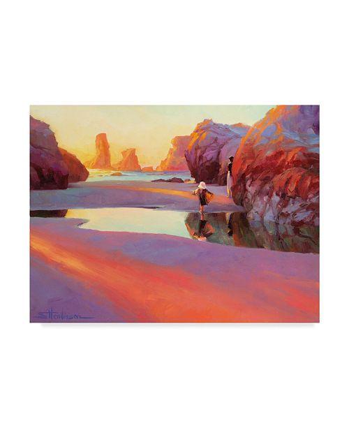 "Trademark Global Steve Henderson 'Running' Canvas Art - 18"" x 24"""