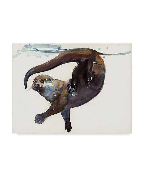 "Trademark Global Mark Adlington 'Otter Study II Talisker' Canvas Art - 18"" x 24"""