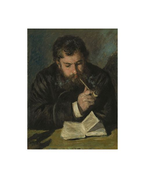 "Trademark Global Pierre Auguste Renoir 'Claude Monet' Canvas Art - 19"" x 14"""