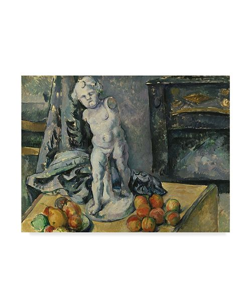 """Trademark Global Paul Cezanne 'With Plaster Cupid S' Canvas Art - 19"""" x 14"""""""