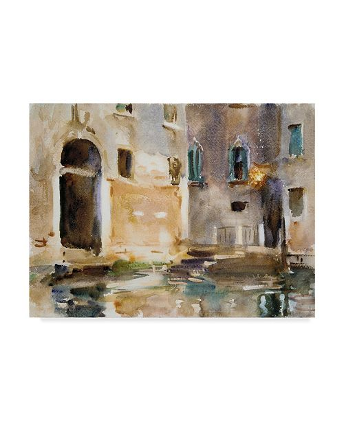 "Trademark Global John Singer Sargent 'Venice' Canvas Art - 19"" x 14"""