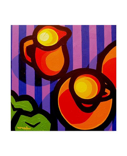 "Trademark Global John Nolan 'Tea And Apples' Canvas Art - 18"" x 18"""