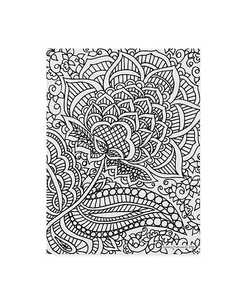 "Trademark Global Jessica Putnam 'Floral Patterns 5' Canvas Art - 24"" x 32"""